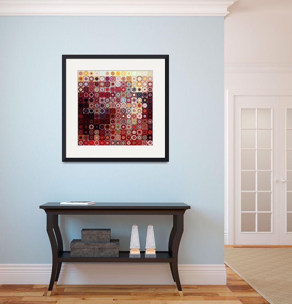 """Circles and Squares 11. Modern Decor Collection&quot  (2012) by MarkLawrence"