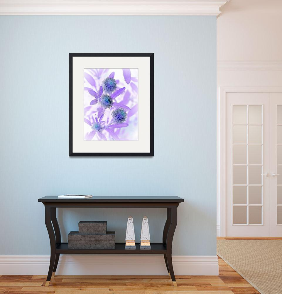 """Purple Flower Negative&quot  (2009) by bavosiphotoart"