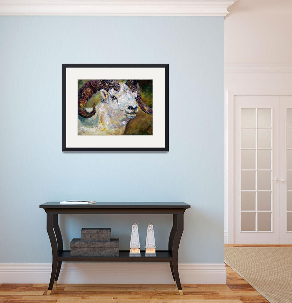 """Dall Sheep Ram Original Oil Painting&quot  (2006) by GinetteCallaway"