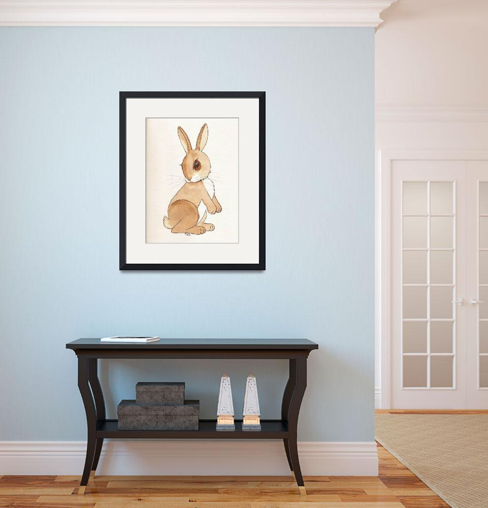 """Watercolor Bunny&quot  (2011) by CreationsByMit"