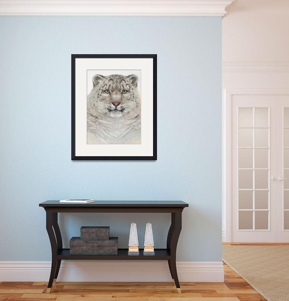 """Snow Leopard&quot  (2006) by LisaMclaughlin"
