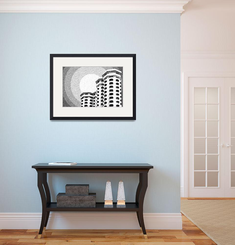 """Dotted drawing of Architecture Building High-Rise&quot  by motionage"