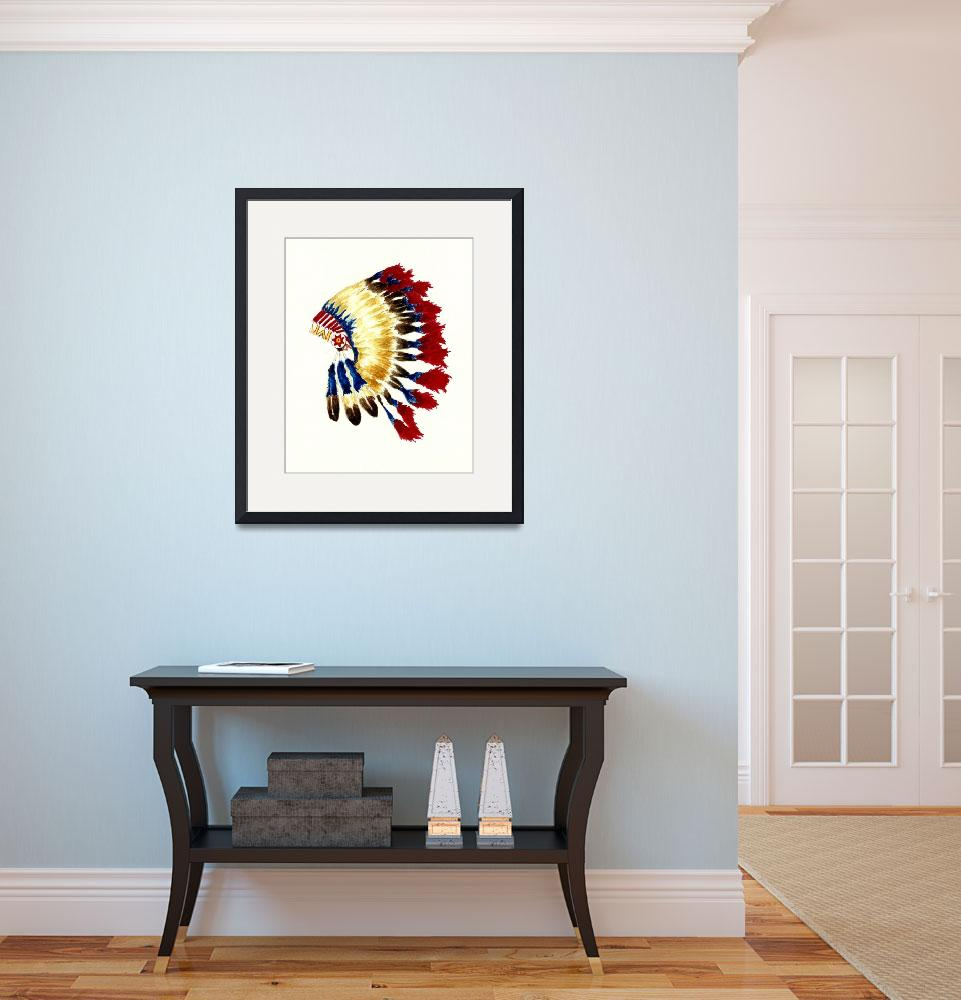 """Cherokee Headdress&quot  (2011) by vigliotti"