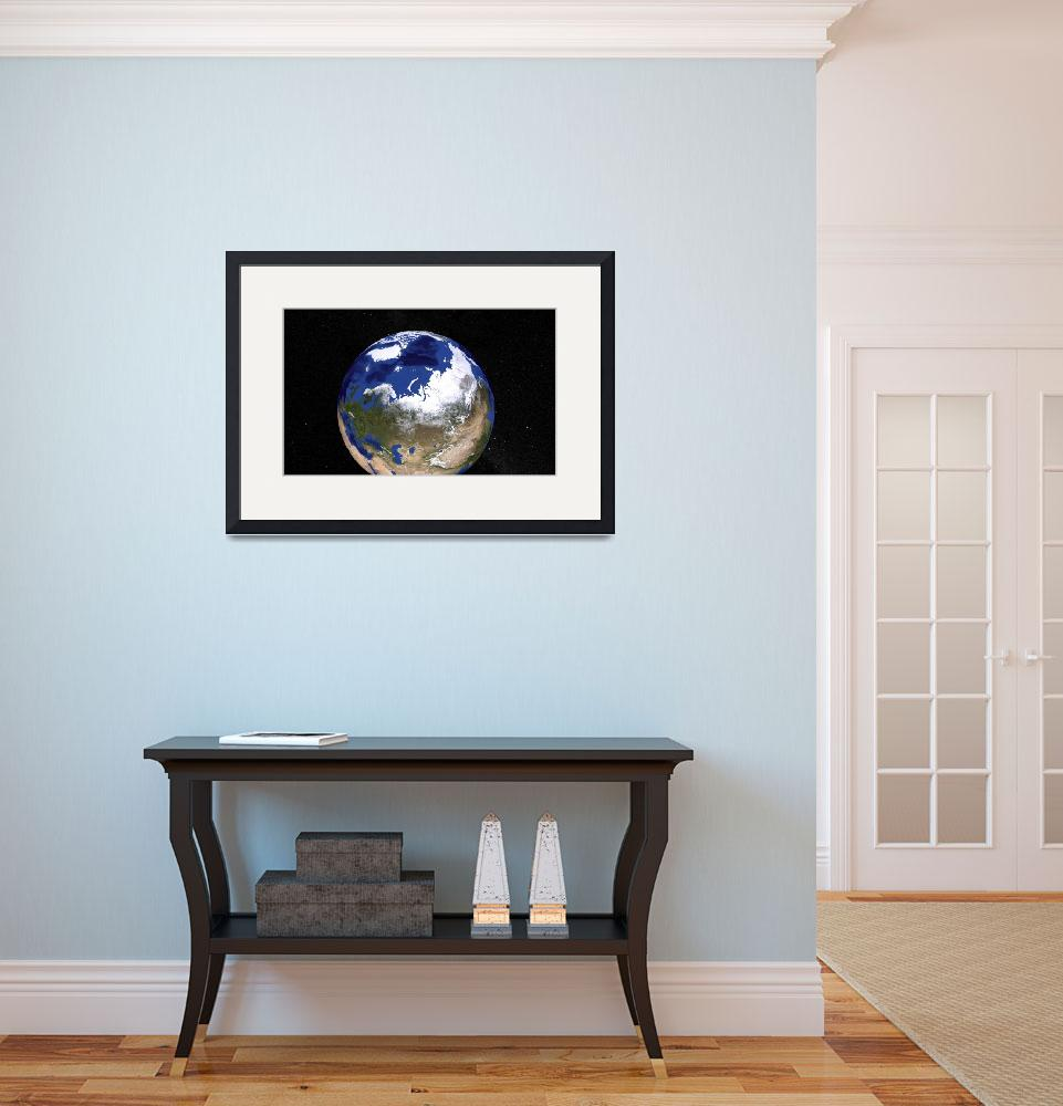 """Blue Marble Earth showing the Arctic.&quot  by stocktrekimages"
