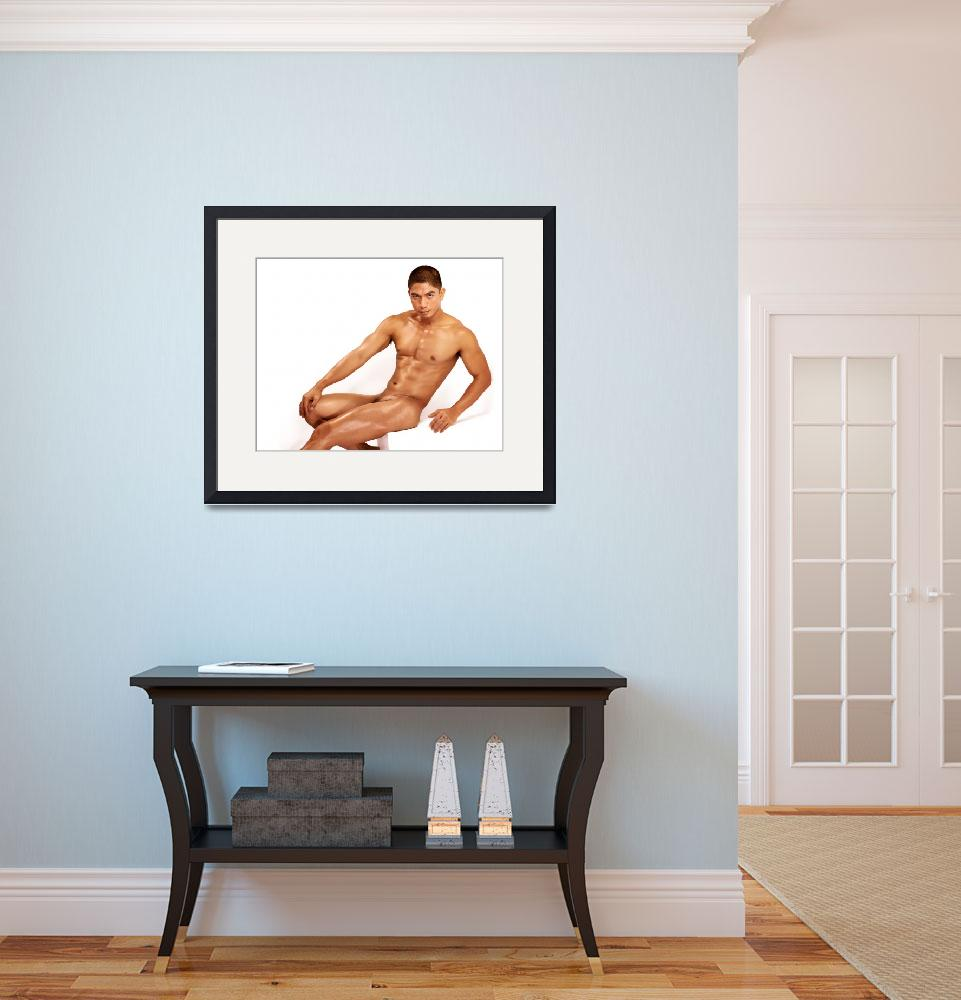 """Miguel in Seated Nude 7200x300&quot  (2013) by JosephBrian"