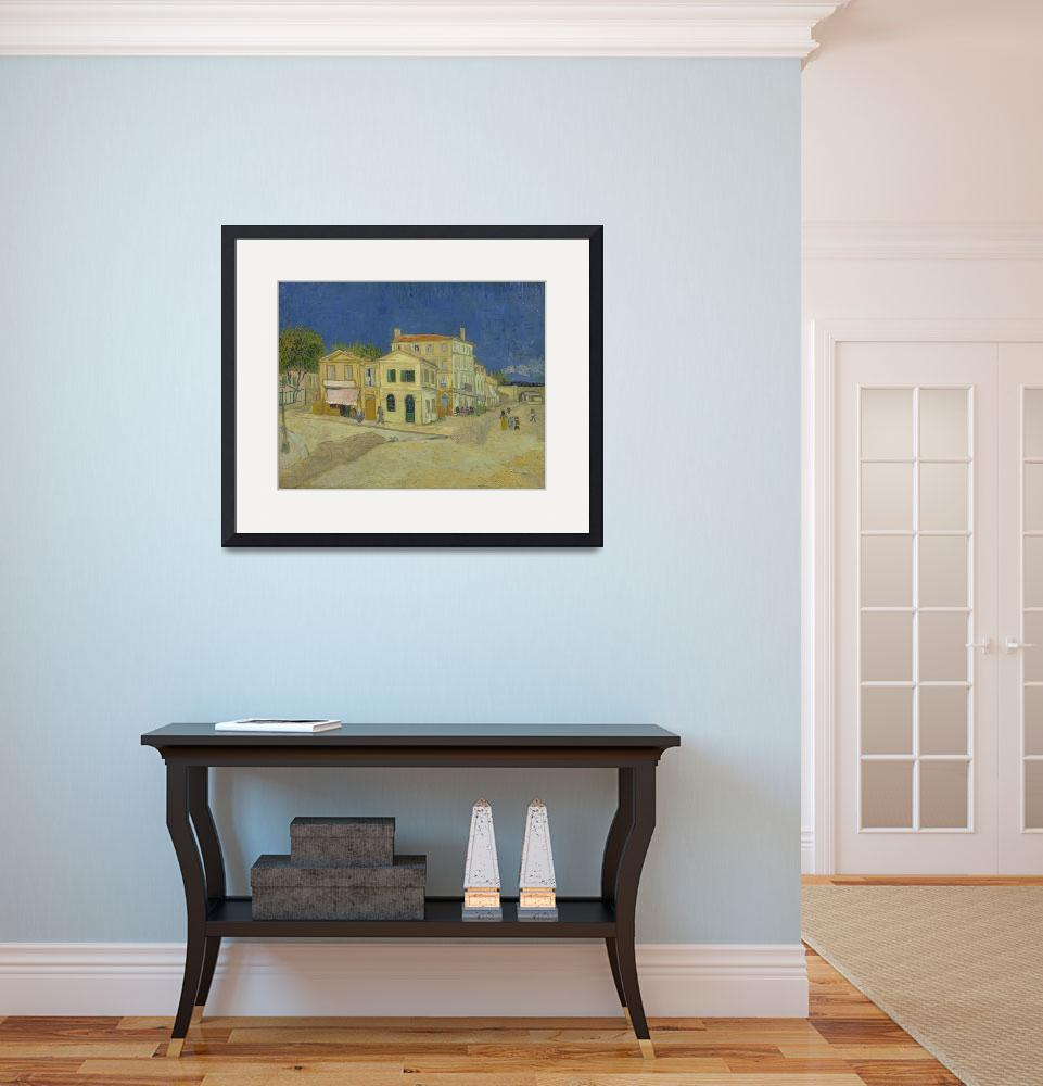 """The Yellow House (The Street) Vincent Van Gogh&quot  by VintageArtPosters"