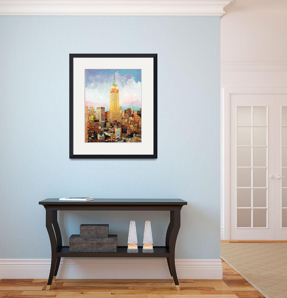 """Manhattan Dawn, Empire State Building, New York&quot  (2007) by BeaconArtWorksCorporation"
