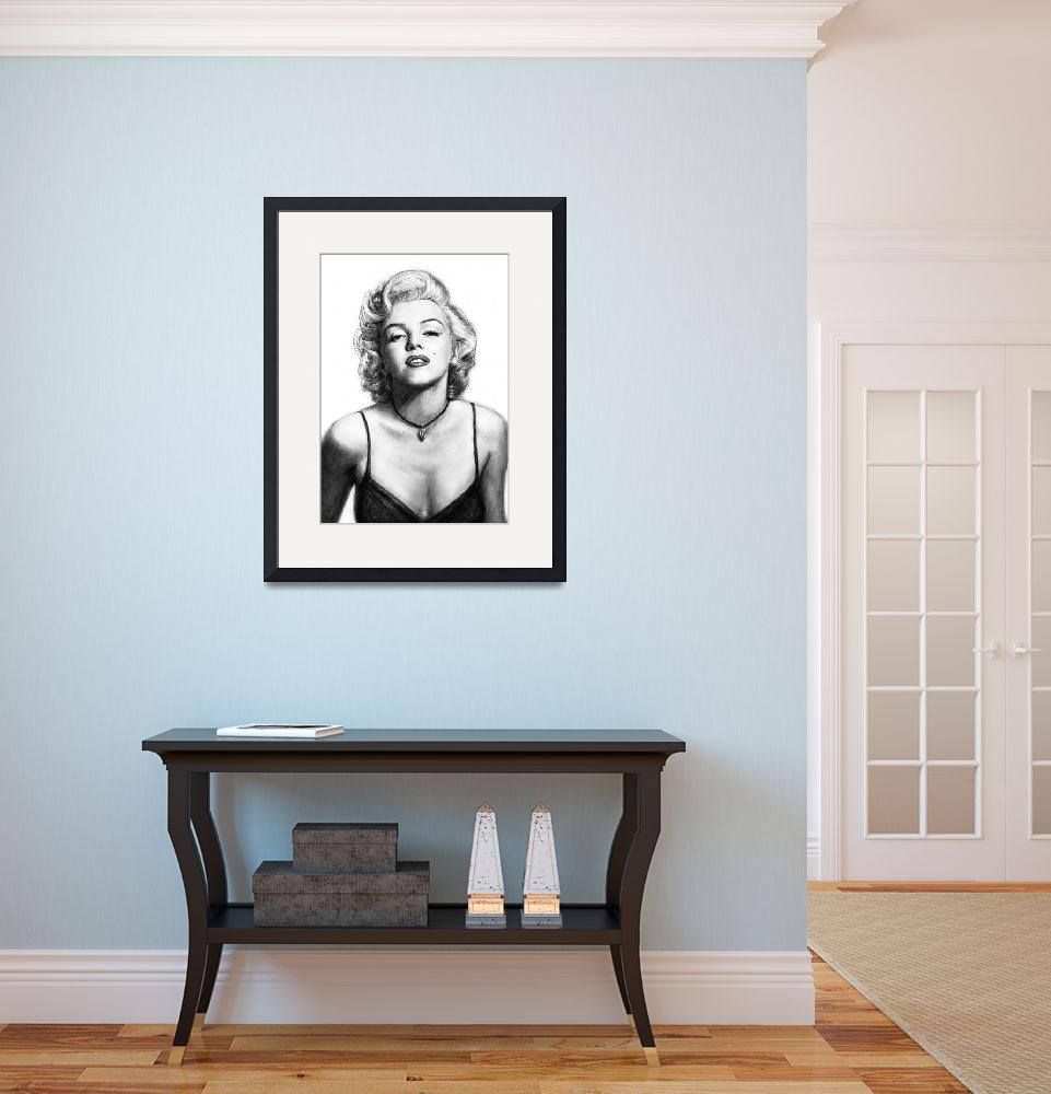 """Marilyn Monroe art drawing sketch poster&quot  (2011) by visualharbour"