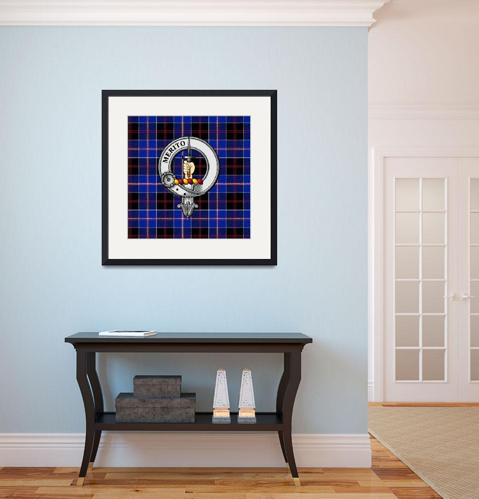 """Dunlop Scottish Clan Badge and Tartan&quot  (2016) by ivycreekstudio"