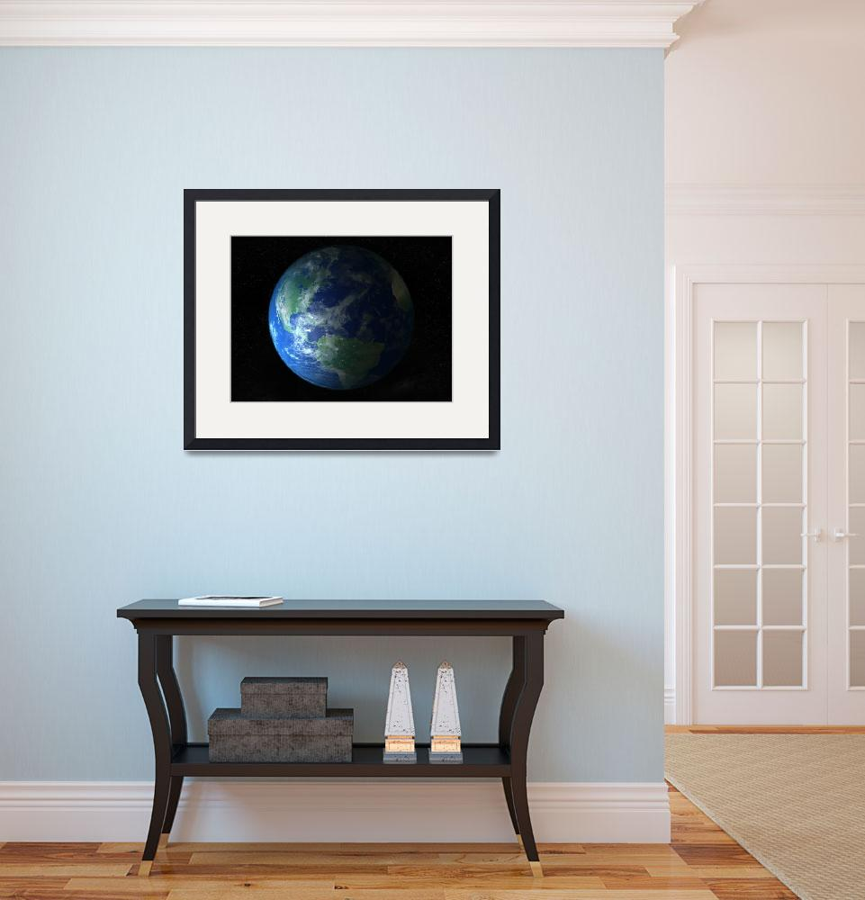 """Blue marble&quot  (2013) by rainbowarts"