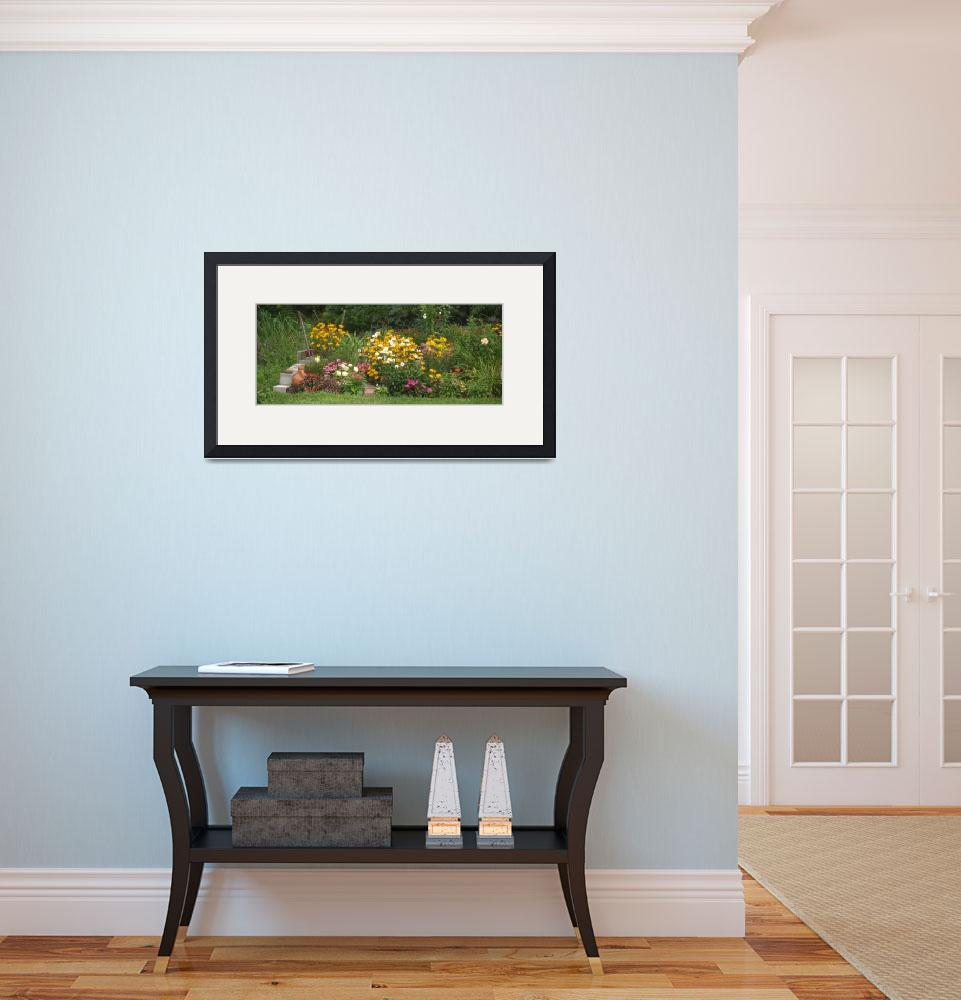"""Summer Perennial Garden Panoramic&quot  (2007) by MikeMBurkeDesigns"