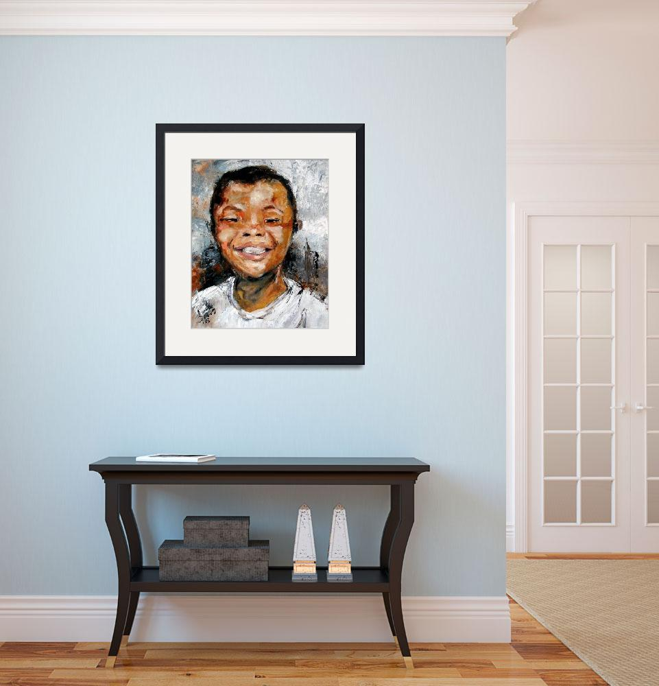 """Boy Smiling Oil Painting by Ginette Callaway&quot  (2005) by GinetteCallaway"