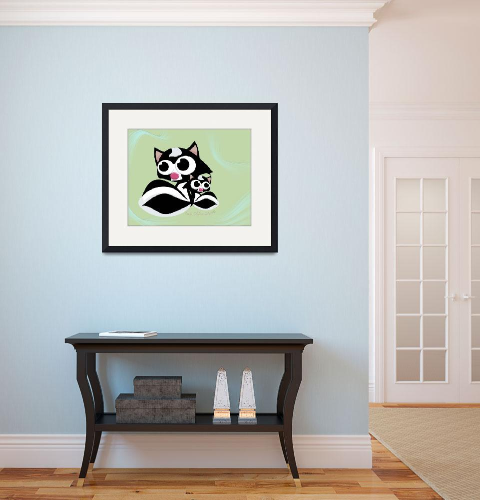 """Skunk Family&quot  (2010) by cliftondesigns"