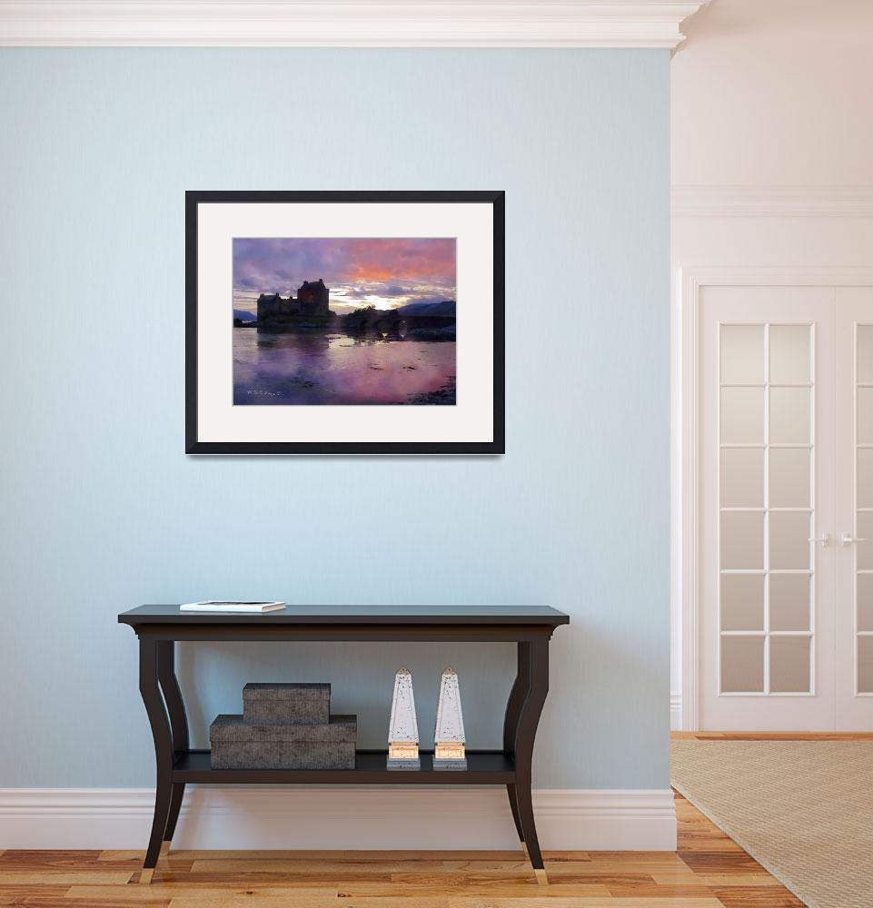 """Eileen Donan Castle Painting 16x12 inches&quot  (2001) by sacorivergraphics"