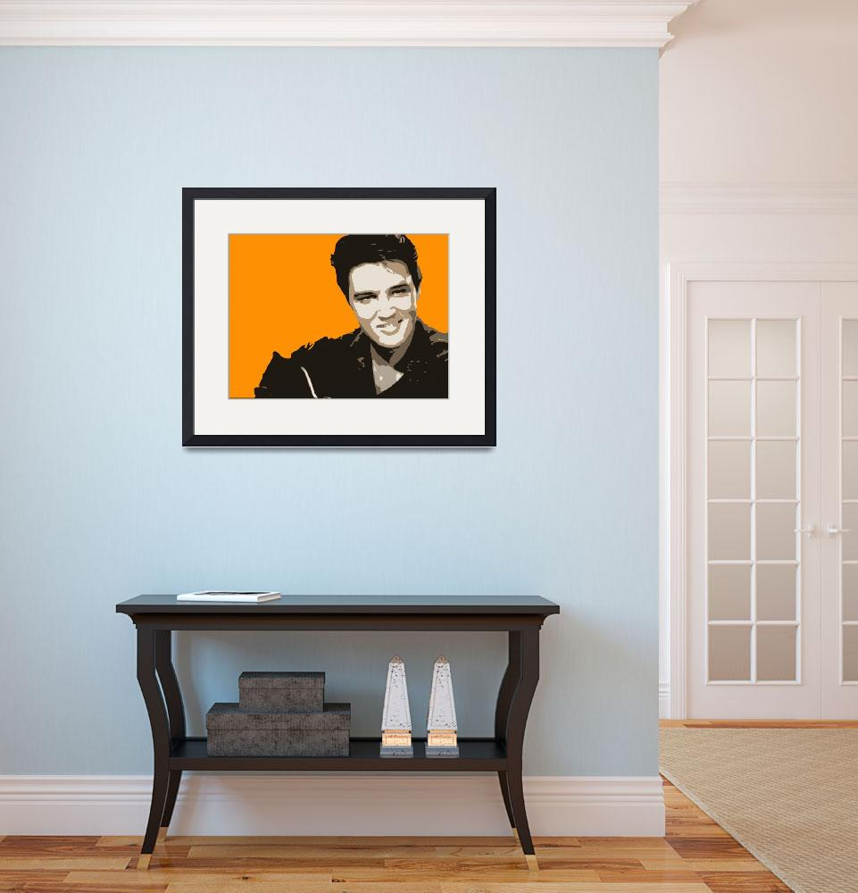 """Elvis Presley Tribute&quot  (2010) by whitewallgallery"