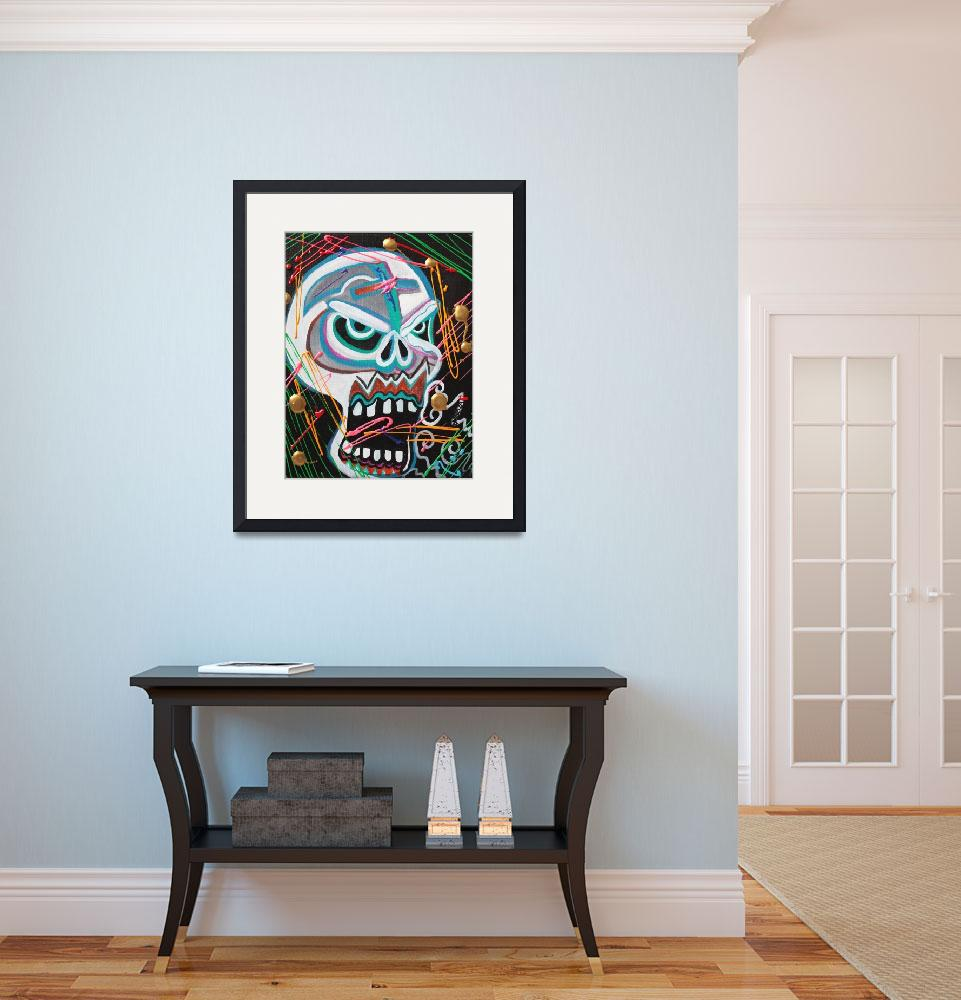 """Carnie Skull&quot  (2016) by ArtPrints"