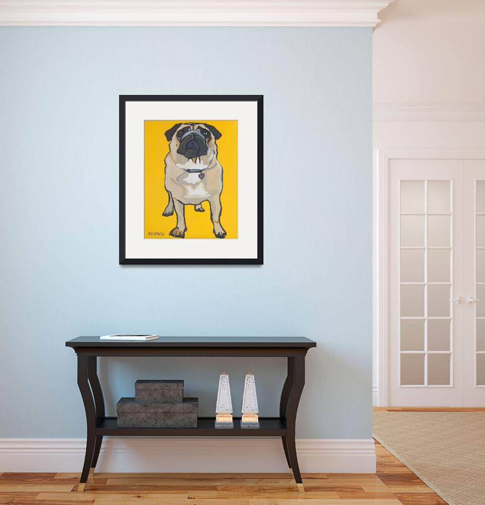 """Yellow Pug&quot  (2010) by AVApostle"