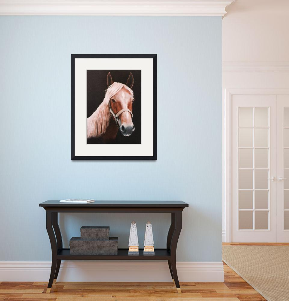 """Palomino Horse painting&quot  by AnimalsbyDiDi"
