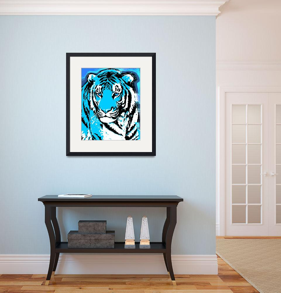 """TIGER-3 (LARGE) BLUE&quot  by thegriffinpassant"