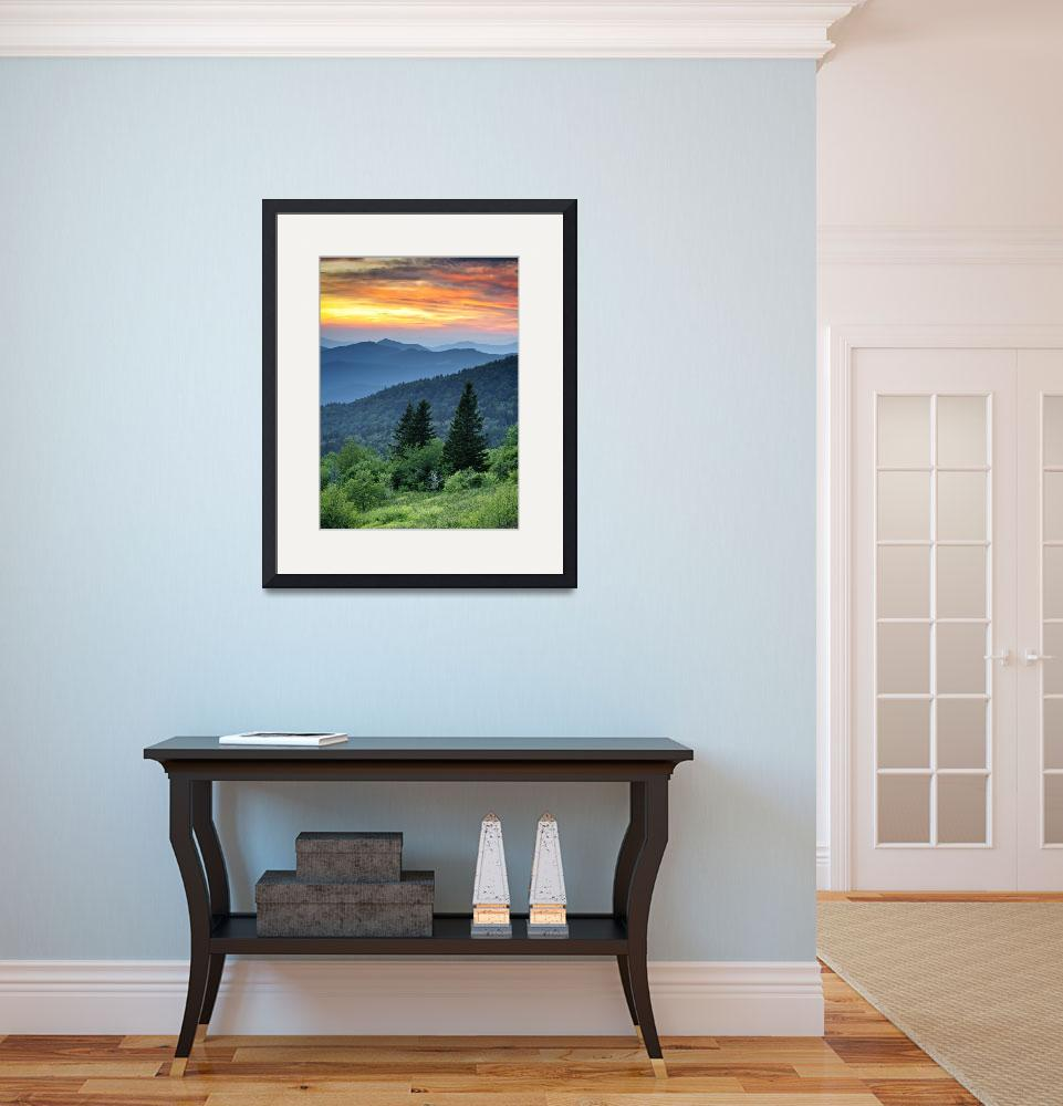 """Fire in the Mountains - Blue Ridge Parkway&quot  (2011) by DAPhoto"