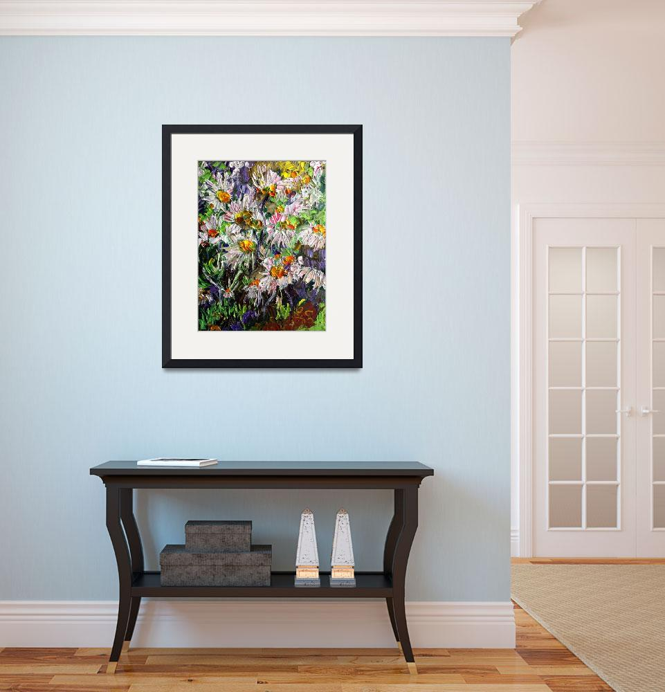 """Marguerite Flowers Impast Oil Painting by Ginette&quot  (2009) by GinetteCallaway"