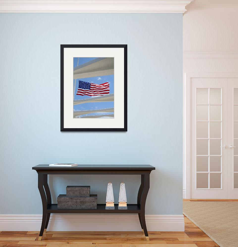 """U.S.S Arizona Memorial Flag&quot  (2007) by zzonephotos"