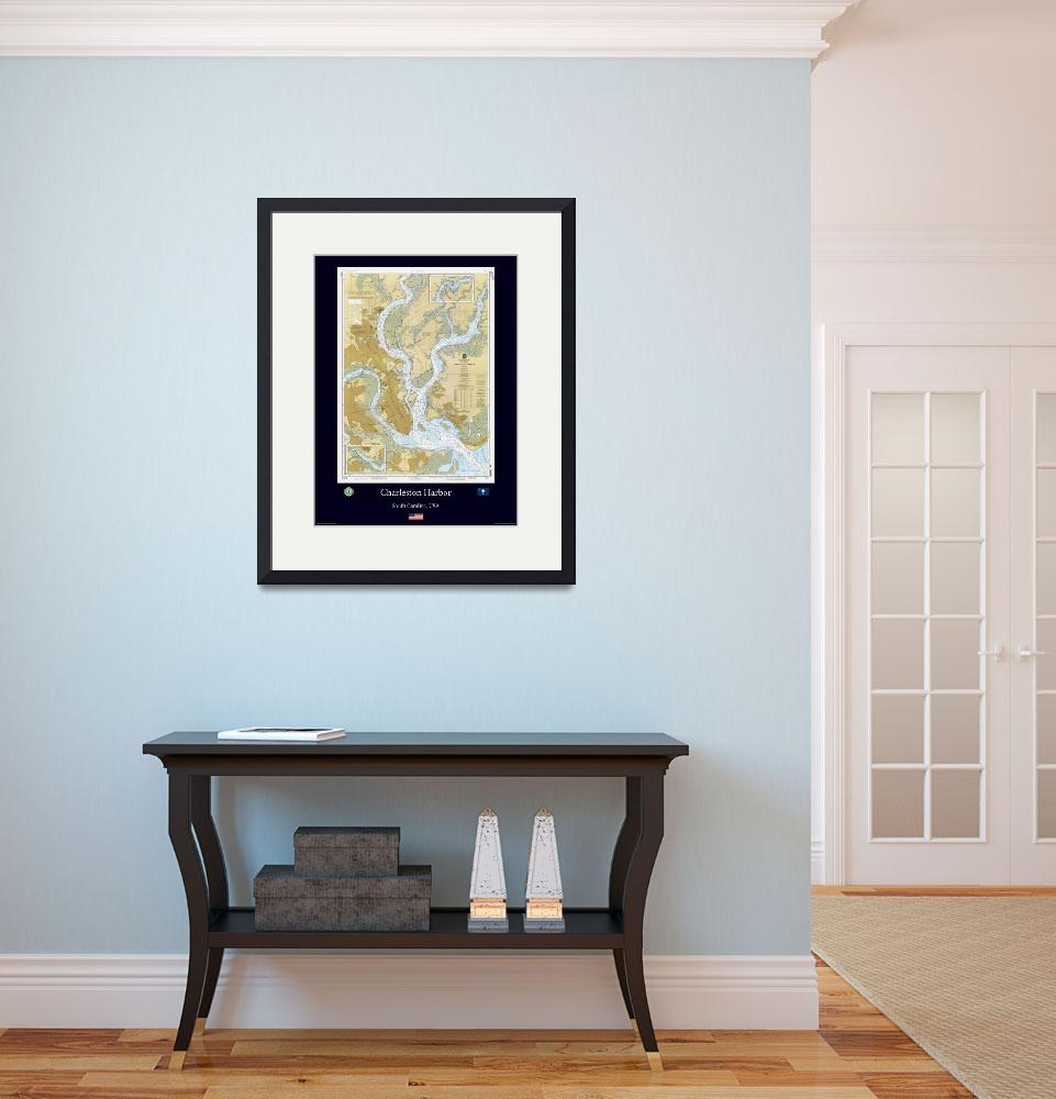 """charleston Harbor Blue&quot  (2012) by AOCPrints"