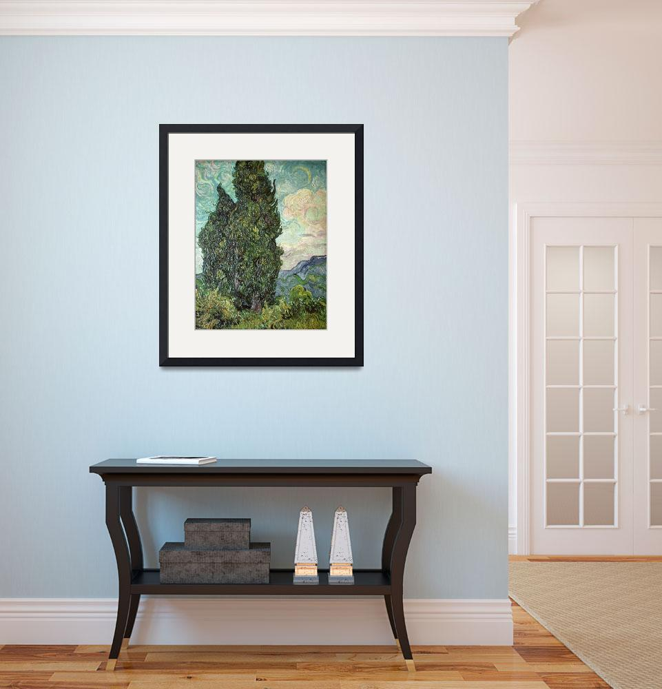 """Cypresses by Vincent van Gogh&quot  by fineartmasters"