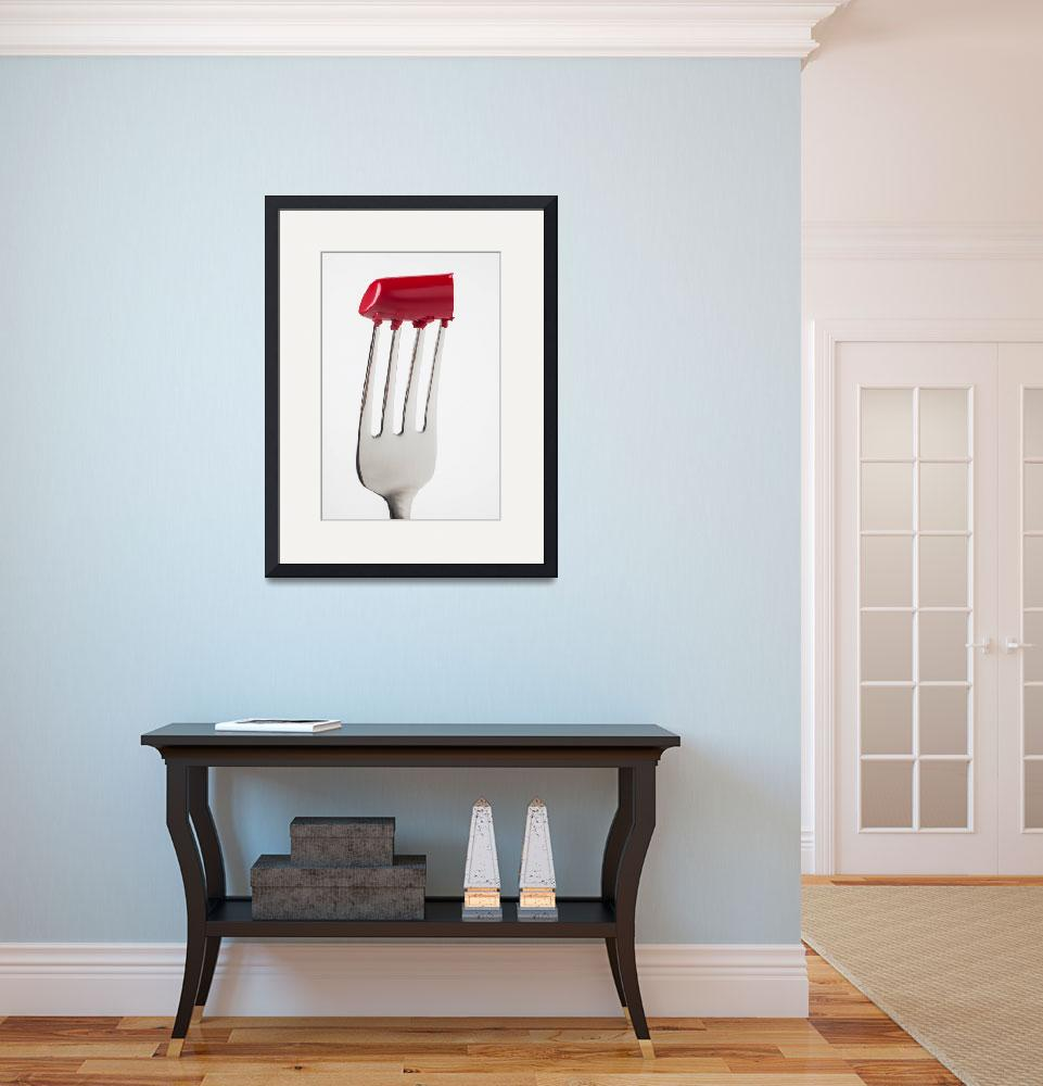 """Red Lipstick On Fork&quot  (2013) by photogarry"