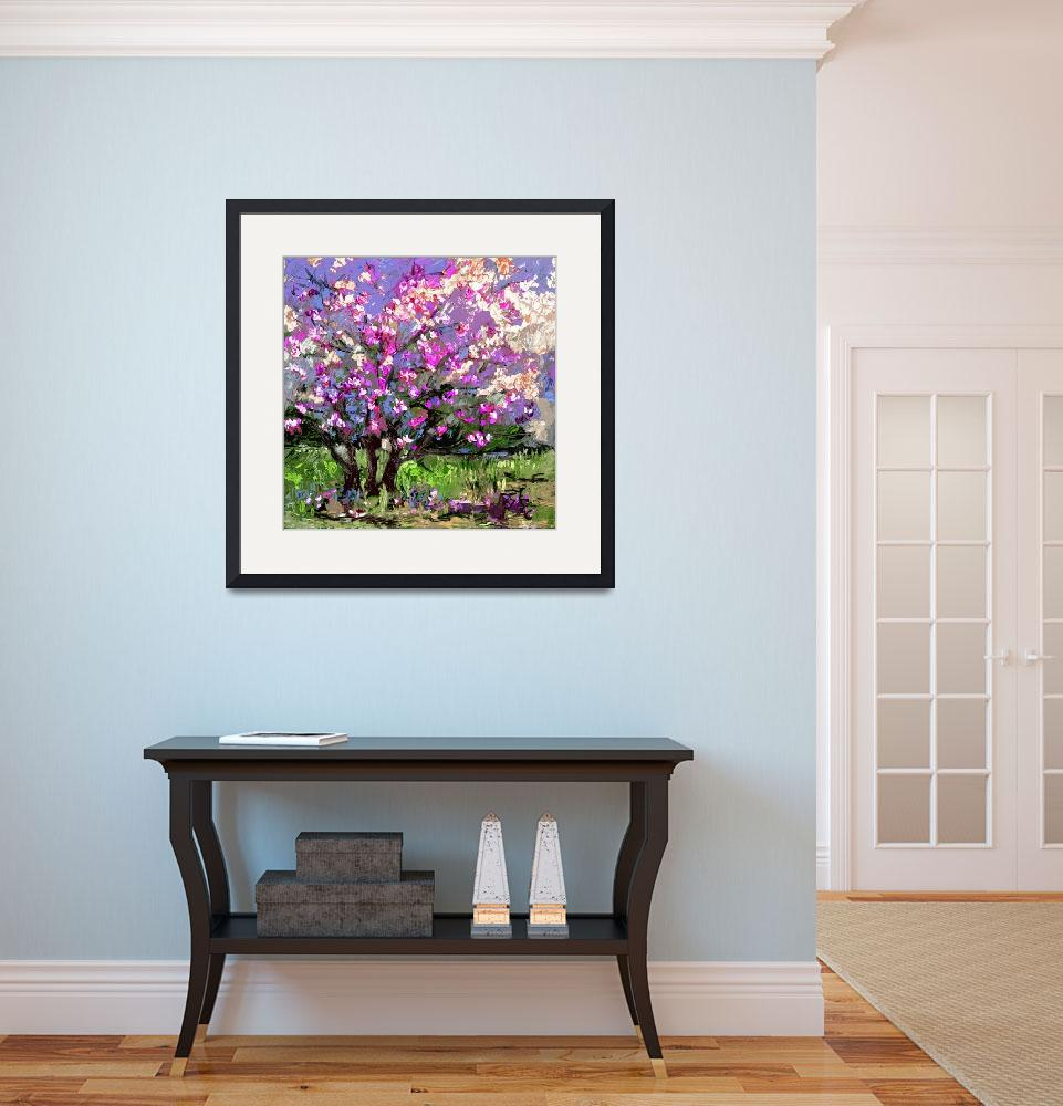 """Tulip Magnolia Modern Impressionist Art by Ginette&quot  (2012) by GinetteCallaway"