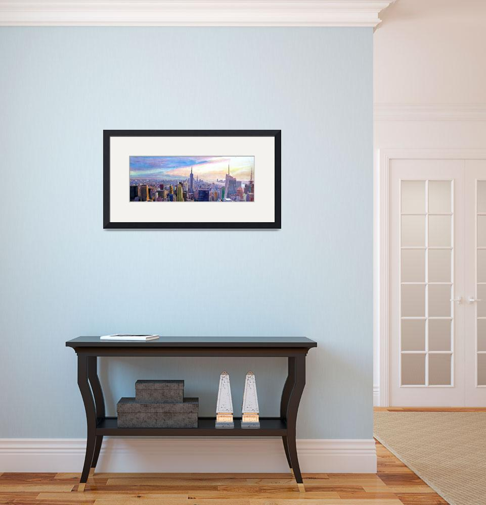"""Panorama_View_of_New_York_Manhattan_Skyline_with N&quot  (2015) by arthop77"