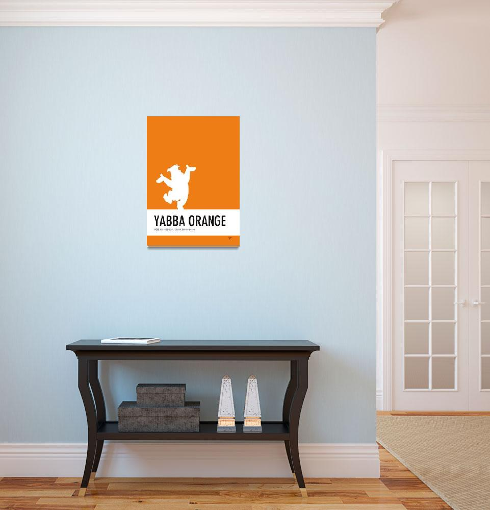 """No04 My Minimal Color Code poster Fred Flintstone&quot  by Chungkong"