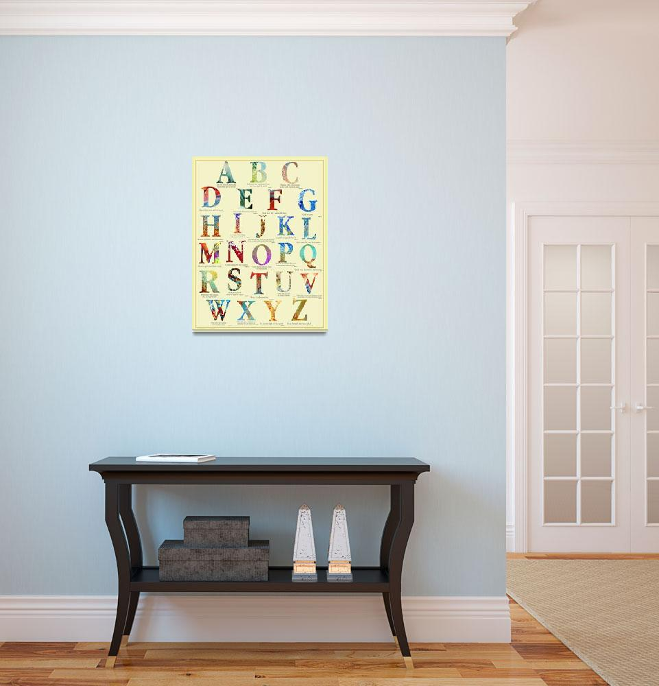 """The Christian Alphabet Poster&quot  (2008) by MarkLawrence"