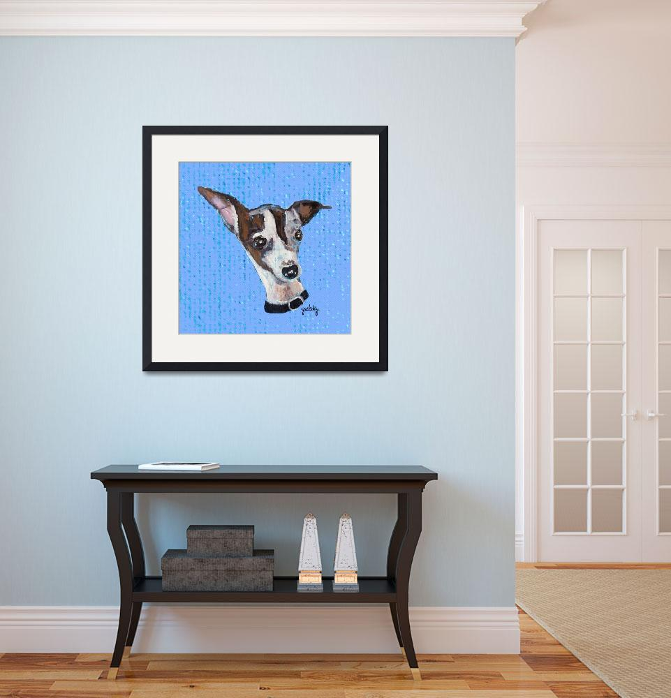 """Mia the Italian Greyhound&quot  by paintingsbygretzky"