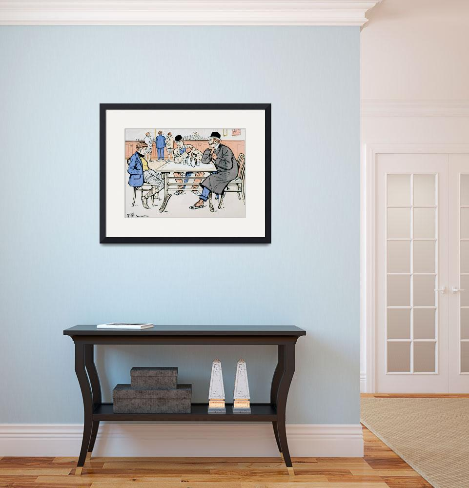 """Jockey and trainers in the bar&quot  by fineartmasters"