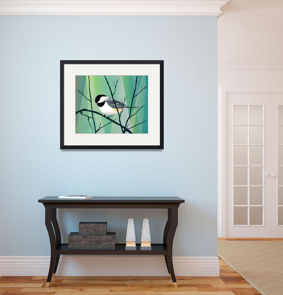 """chickadee Abstract&quot  by waterart"