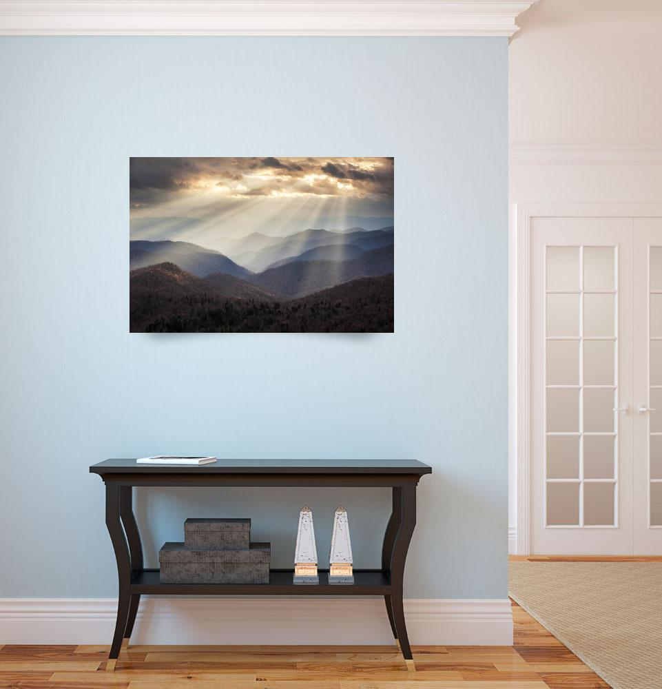 """Crepuscular Light Rays on Blue Ridge Parkway - Ray&quot  (2012) by DAPhoto"
