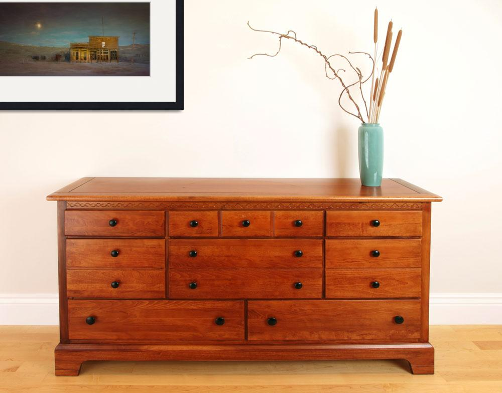 """Ghost Town of Bodie Moonrise&quot  (2013) by SederquistPhotography"