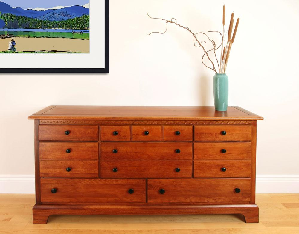 """Contemplation at the Lake&quot  (2010) by Kirtdtisdale"