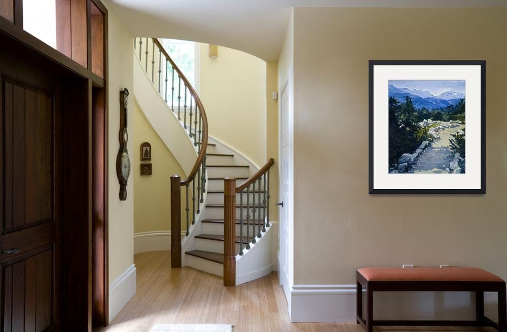 """Trail to Whistler Mountain, British Columbia Print&quot  (2007) by KeatingArt"
