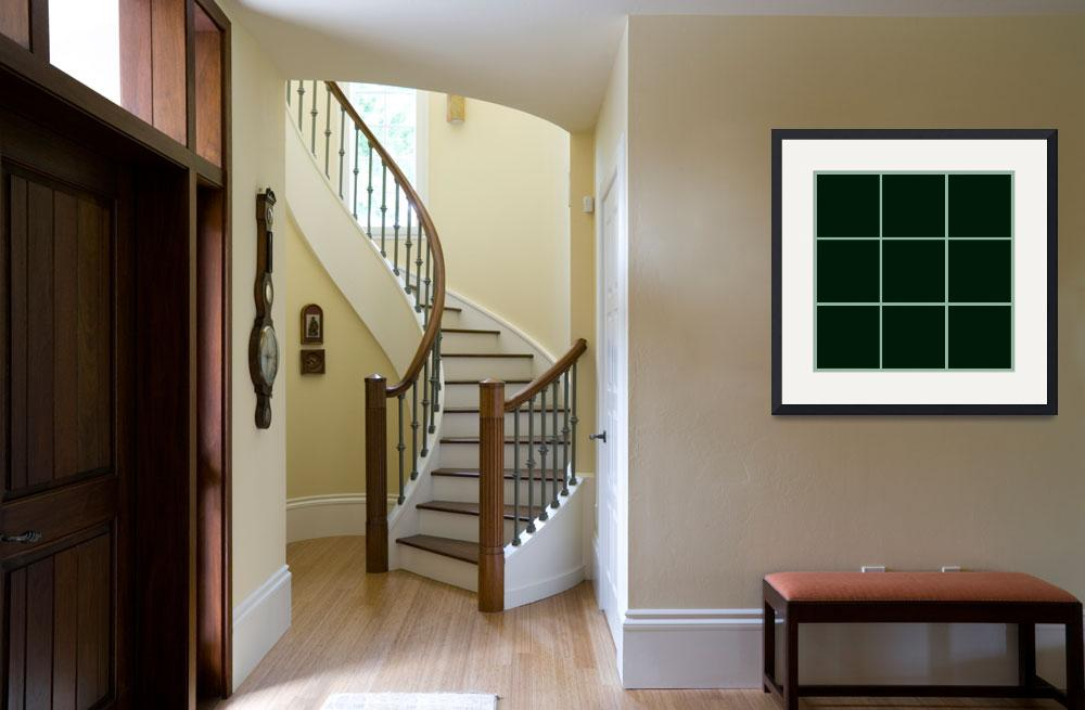 """Green Window 006 Canvas Contemporary Modern&quot  by Ricardos"