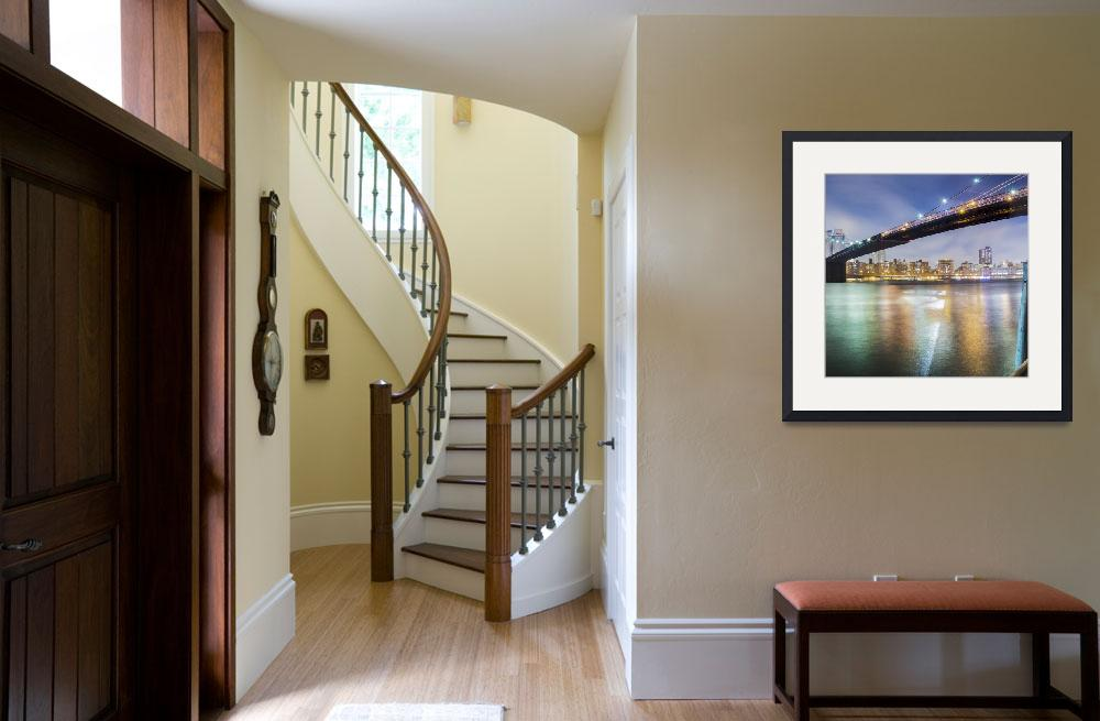 """Brooklyn Bridge Panoramic II, two of three&quot  by artlicensing"