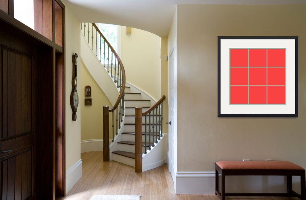 """Red Window 129 Canvas Contemporary Modern&quot  (2010) by Ricardos"