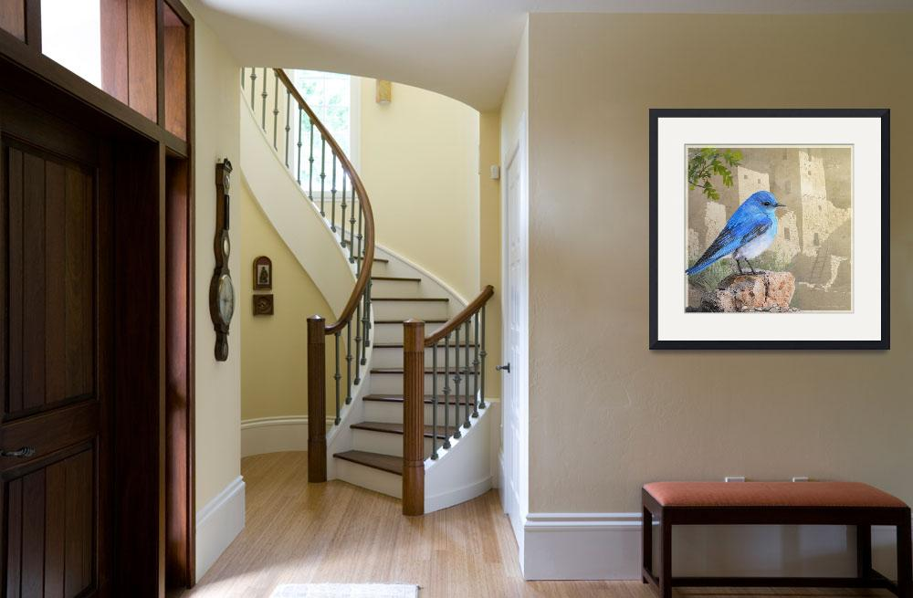 """bluebird at the cliff palace&quot  (2016) by rchristophervest"