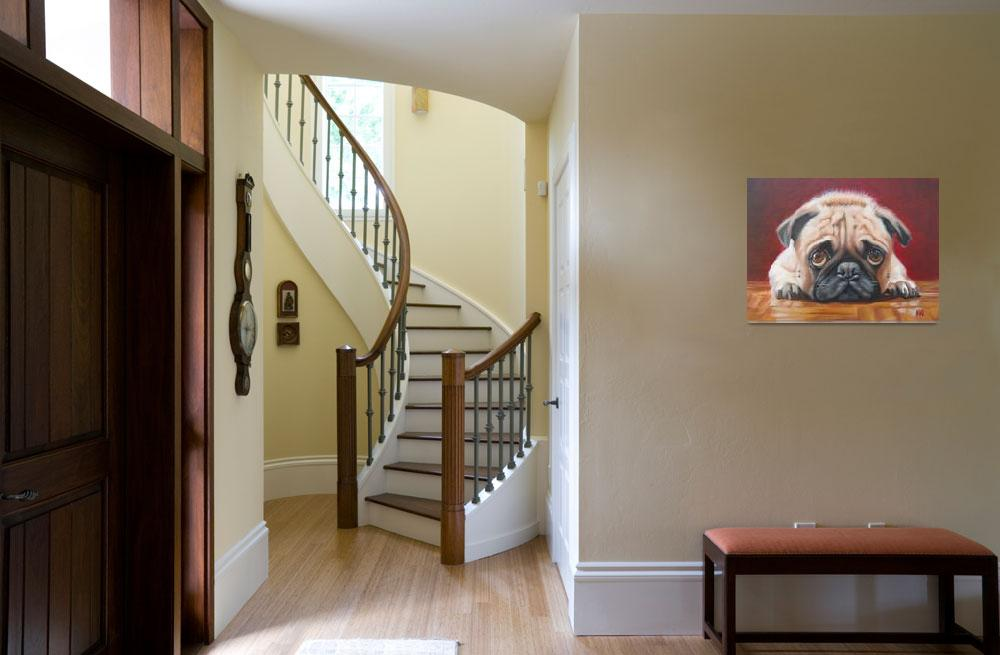 """Pug Staring Contest&quot  (2012) by RachelKeough"