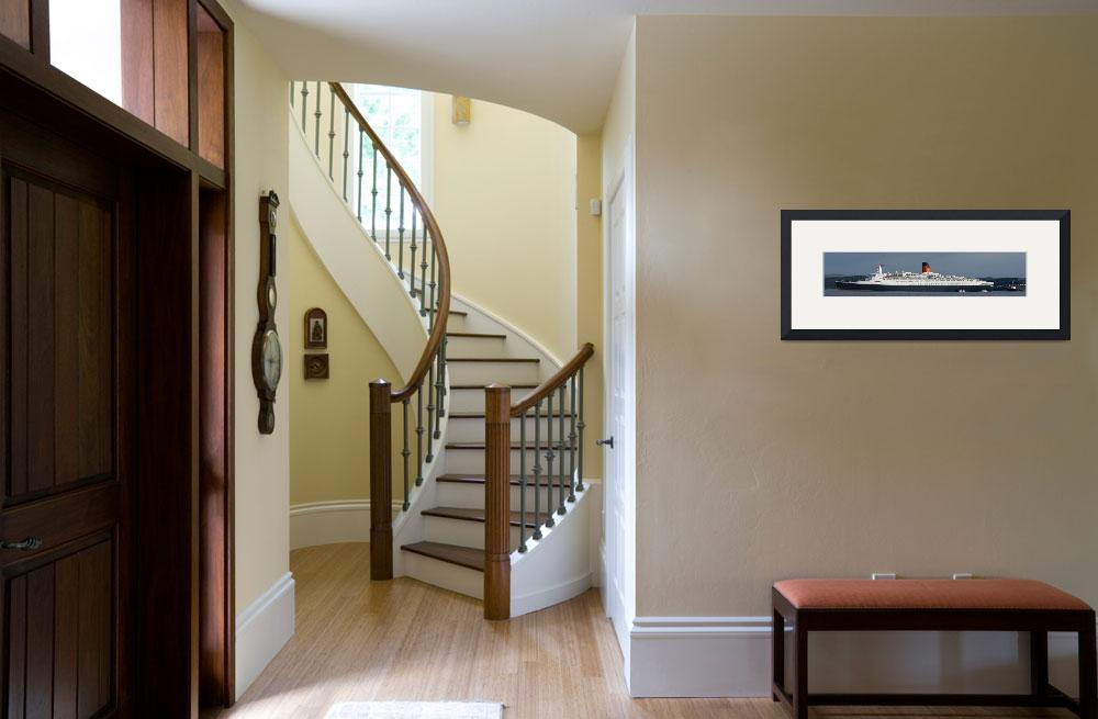 """QE2 panoramic print&quot  by Braeside"