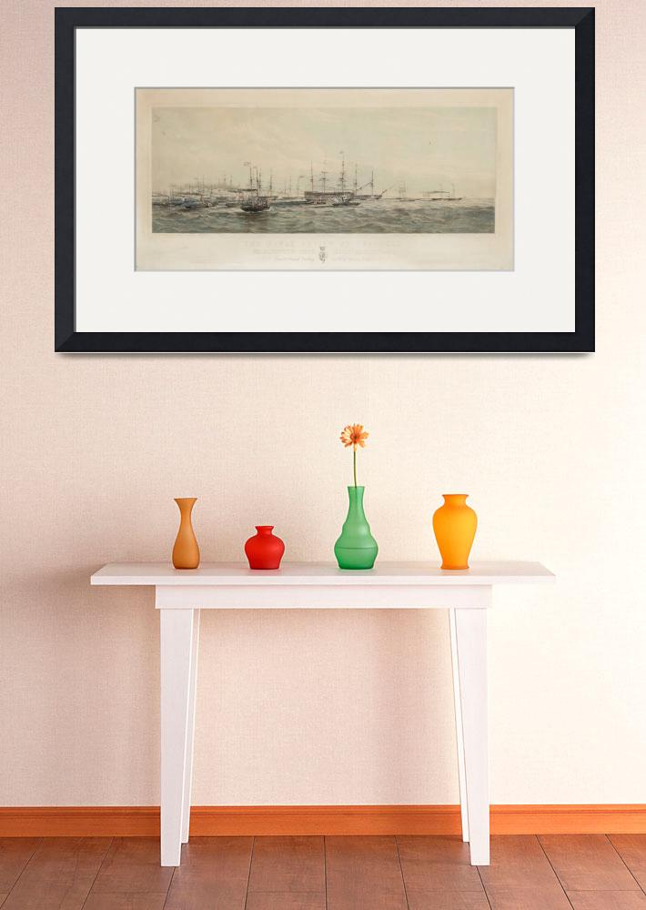 """Pair of Lithographs The Naval Review at Spithead &&quot  by motionage"