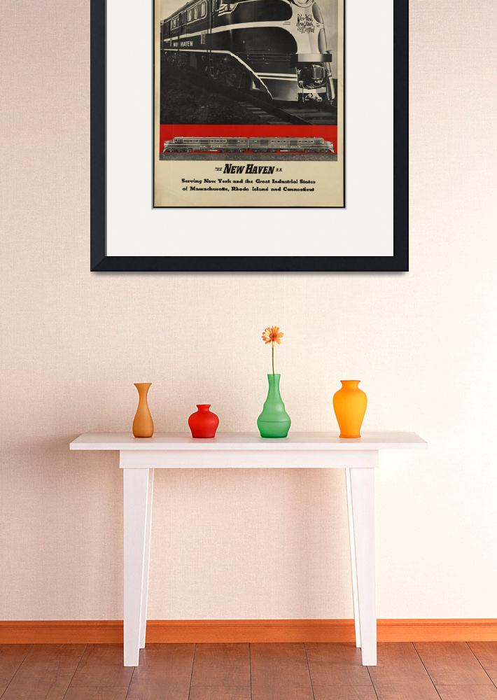"""Diesel Power Train Vintage Travel Poster Ad Retro&quot  (1913) by palaciodebellasartes"
