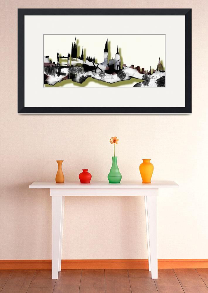 """Abstract London Skyline Design&quot  (2014) by GinetteCallaway"