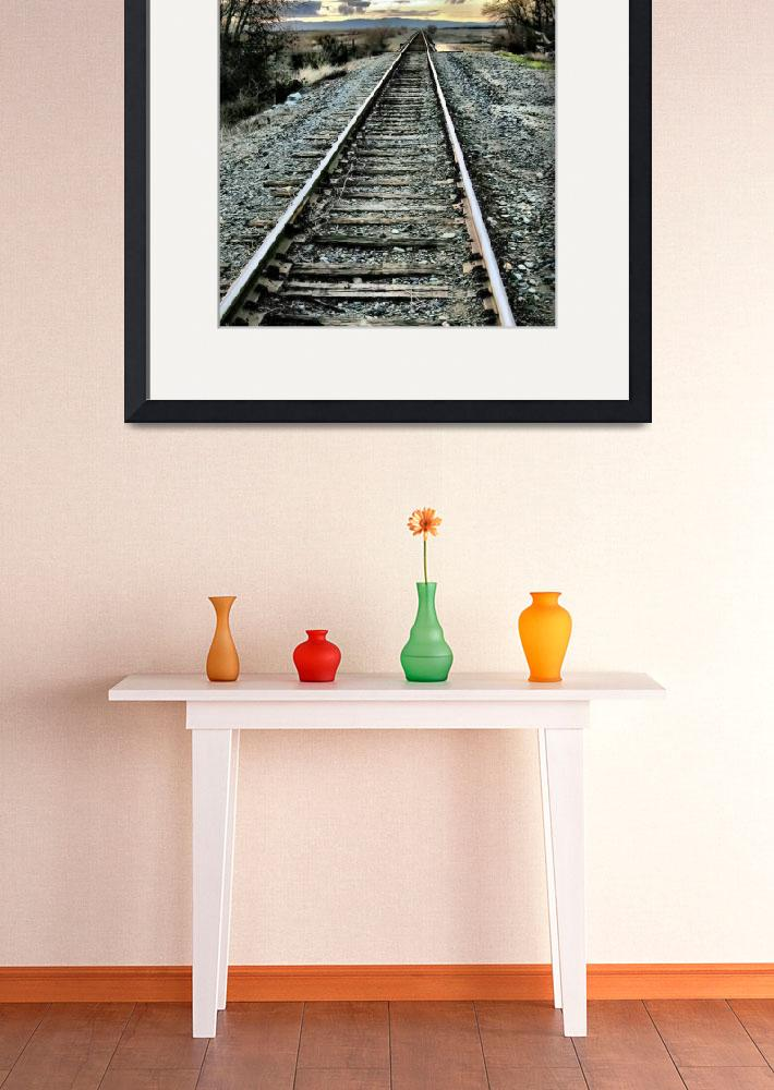 """Lonesome Rails&quot  (2007) by BarbaraBrownPhotography"